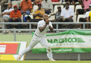 Tino Best claimed a catch in the deep to dismiss Malcolm Waller, West Indies v Zimbabwe, 2nd Test, Roseau, 1st day, March 20, 2013