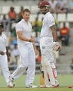 Kyle Jarvis celebrates Kieran Powell's dismissal, West Indies v Zimbabwe, 2nd Test, Dominica, 1st day, March 21, 2013