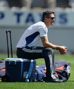 Kevin Pietersen made a final appearance at training before flying home