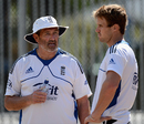 Graham Gooch has a word with Nick Compton, Auckland, March 21, 2013