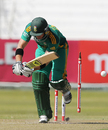 Colin Ingram is bowled first ball, South Africa v Pakistan, 4th ODI, Durban, March 21, 2013