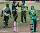 David Miller is dismissed by Saeed Ajmal, South Africa v Pakistan, 4th ODI, Durban, March 21, 2013