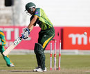 Younis Khan is bowled by Rory Kleinveldt