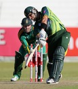 Misbah-ul-Haq goes for a drive through on-side