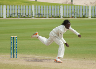 Nehemiah Odhiambo picked up five wickets on the fourth day as Kenya beat Canada by four wickets in an Intercontinental Cup match in Dubai