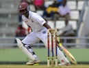 Shivnarine Chanderpaul sets off for a run