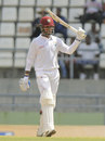 Denesh Ramdin acknowledges his half-century, West Indies v Zimbabwe, 2nd Test, Roseau, 2nd day, March 21, 2013