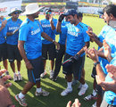 Harbhajan Singh hands Ajinkya Rahane his Test cap