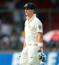 Steven Smith was dismissed after scoring a valuable 46