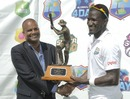 Darren Sammy with the Clive Lloyd trophy
