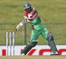 Anamul Haque gets in position to play a shot