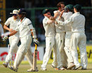 Nathan Lyon picks up Sachin Tendulkar's wicket, India v Australia, 4th Test, Delhi, 2nd day, March 23, 2013