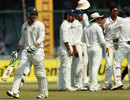 Phillip Hughes walks off after being dismissed, India v Australia, 4th Test, Delhi, 3rd day, March 24, 2013