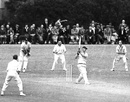 Laurie Fishlock lofts one, Kent v Surrey, County Championship, Blackheath, 3rd day, June 18, 1951