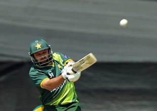 Shahid Afridi fell for a duck, pulling one straight to deep square leg, South Africa v Pakistan, 5th ODI, Benoni, March 24, 2013