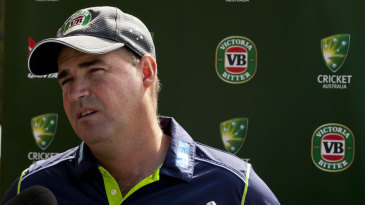 Australia coach Mickey Arthur speaks to the media in Perth