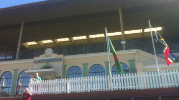 The upper tier of the Museum Stand at the Basin Reserve, Wellington
