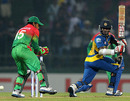 Kusal Perera plays the ball fine