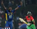 Angelo Mathews appeals for the wicket of Shamsur Rahman