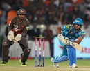 Abhishek Nayar nudges the ball to the on-side, Sunrisers Hyderabad v Pune Warriors, IPL, Hyderabad, April 5, 2013