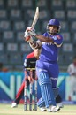 Kusal Perera strikes one on the on-side, Delhi Daredevils v Rajasthan Royals, IPL, Delhi, April 6, 2013