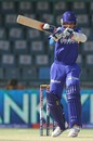 Ajinkya Rahane gets into position to pull