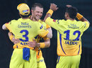 Dirk Nannes celebrates getting Tendulkar leg before, Chennai Super Kings v Mumbai Indians, IPL, Chennai, April 6, 2013