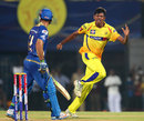 Ankit Rajpoot dismisses Ricky Ponting, Chennai Super Kings v Mumbai Indians, IPL, Chennai, April 6, 2013