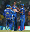 Munaf Patel picks up Murali Vijay, Chennai Super Kings v Mumbai Indians, IPL, Chennai, April 6, 2013