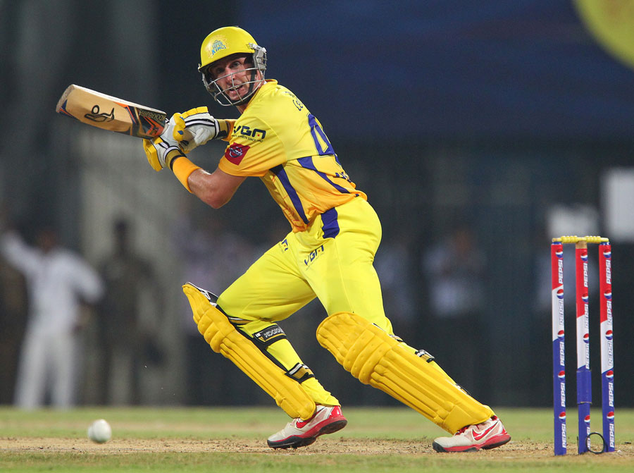 Michael Hussey glides one to the off side | Photo | Indian Premier League | ESPNcricinfo.com