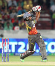 Akshath Reddy clubs to the leg side, Sunrisers Hyderabad v Royal Challengers Bangalore, IPL, Hyderabad, April 7, 2013