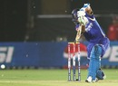 Rahul Dravid plays the cover drive