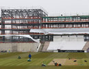A Hampshire groundsman mowing the square, Ageas Bowl, April 8, 2013
