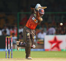 Kumar Sangakkara drives down the ground