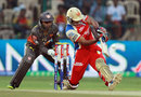 Mayank Agarwal hits leg side, Royal Challengers Bangalore v Sunrisers Hyderabad, IPL, Bangalore, April 9, 2013