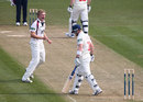 David Willey celebrates taking the wicket of Ben Wright, Glamorgan v Northamptonshire, County Championship, Division Two, Cardiff, 1st day, April 10, 2013