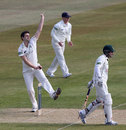 Tim Murtagh in his delivery stride, with Ed Cowan backing up, Nottinghamshire v Middlesex, County Championship, Division One, Trent Bridge, 1st day, April 10, 2013