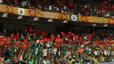 Spectators at an IPL match in Bangalore