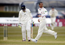 Alfonso Thomas removed Dale Benkenstein for a duck, Durham v Somerset, County Championship, Division One, Chester-le-Street, 1st day, April 10, 2013