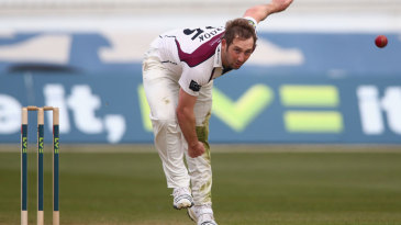 Steven Crook took 4 for 30 as Glamorgan stumbled to 134 all out