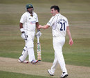 Samit Patel became Toby Roland-Jones' fourth wicket, Nottinghamshire v Middlesex, County Championship, Division One, Trent Bridge, 1st day, April 10, 2013