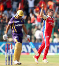 Moises Henriques dismissed Manvinder Bisla in the first over, Royal Challengers Bangalore v Kolkata Knight Riders, IPL, Bangalore, April 11, 2013