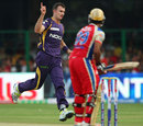 Ryan McLaren picks up Mayank Agarwal, Royal Challengers Bangalore v Kolkata Knight Riders, IPL, Bangalore, April 11, 2013