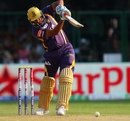 Yusuf Pathan drives down the ground