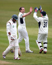 Ramnaresh Sarwan was removed by James Tomlinson, Hampshire v Leicestershire, County Championship, Division Two, Ageas Bowl, 3rd day, April 12, 2013
