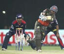 Kumar Sangakkara whips one to the leg-side, Delhi Daredevils v Sunrisers Hyderabad, IPL, Delhi, April 12, 2013
