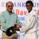 AK Tyronne receives his Man of the Match award, Bangladesh U-19 v Sri Lanka U-19, 1st Youth Test, Mirpur, 4th day, April 13, 2013