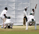 AK Tyronne bowls for Sri Lanka Under-19