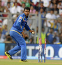 Pragyan Ojha dismisses Ross Taylor, Mumbai Indians v Pune Warriors, IPL 2013, Mumbai, April 13, 2013