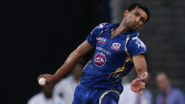 Rishi Dhawan in his delivery stride